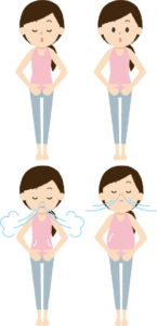 腹式呼吸のイメージ